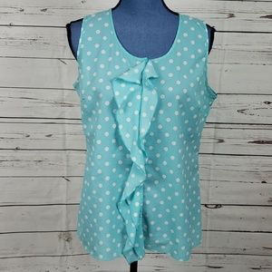 Milano Robin Egg Blue & White Polka Dot Tank Top